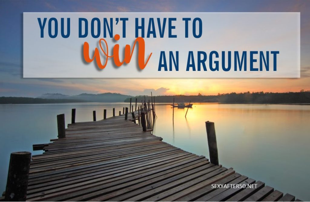 Win an argument-horiz
